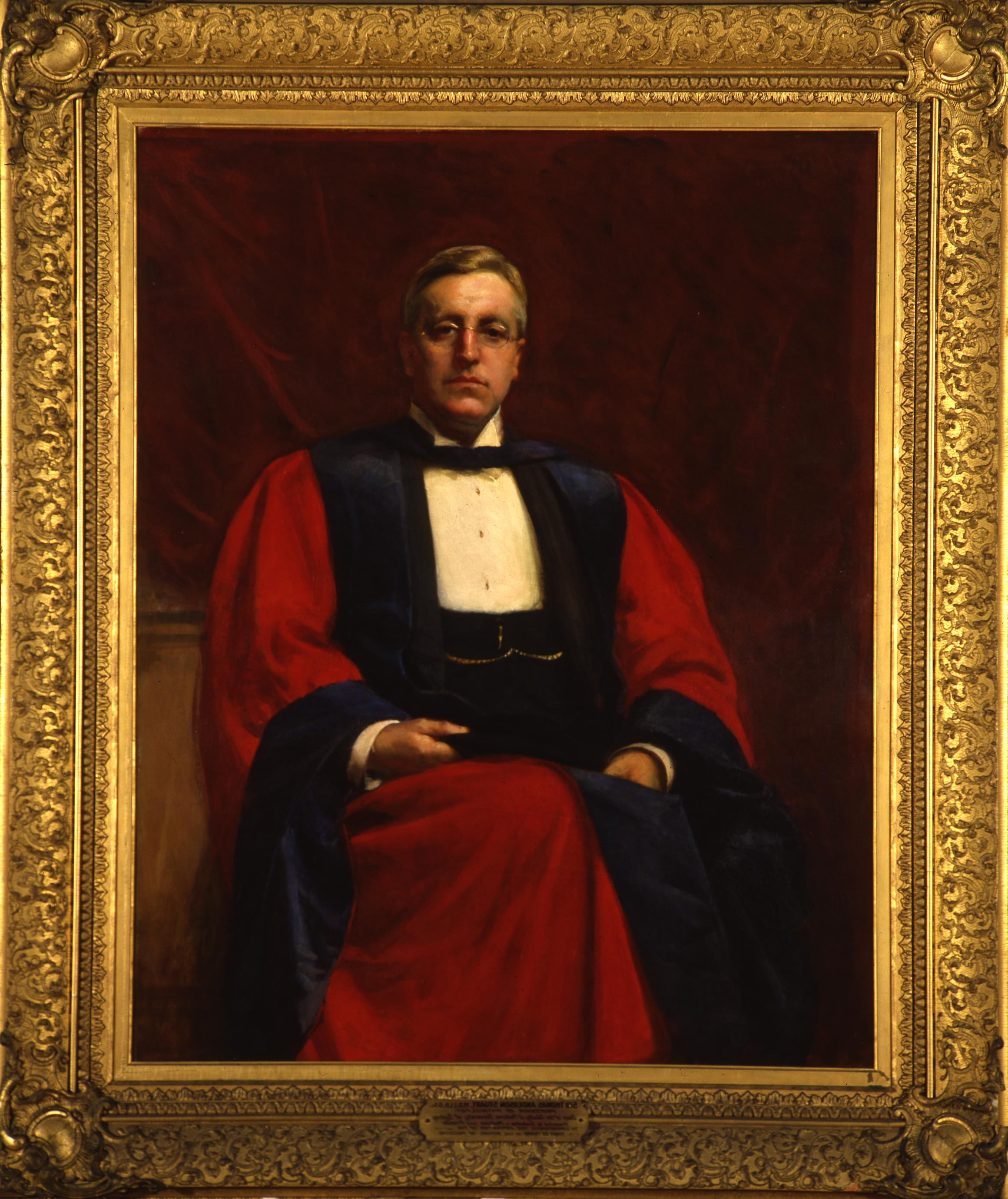 Portrait of Sir Thomas Peter Anderson Stuart by Sir John Longstaff, Oil painting, Courtesy of University Art Gallery, Copyright University of Sydney