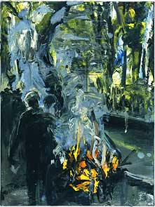 Euan Macleod Fire Figure 1 2001 oil on canvas 51 x 38 cm