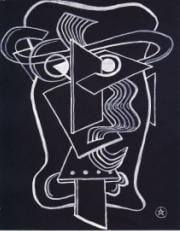 (Head), gouache on paper, Bequest of Edith Power 1961