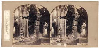 Tintern Abbey, part of the nave arcade