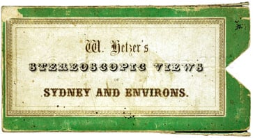 Cover for set of 20 Stereoscopic Views of Sydney
