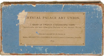Cover for the Stereoscopic Set of 20 Views of the Crystal Palace, Sydenham, London