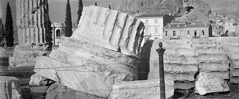 Detail from Temple of Olympian Zeus, photographed by William J Woodhouse