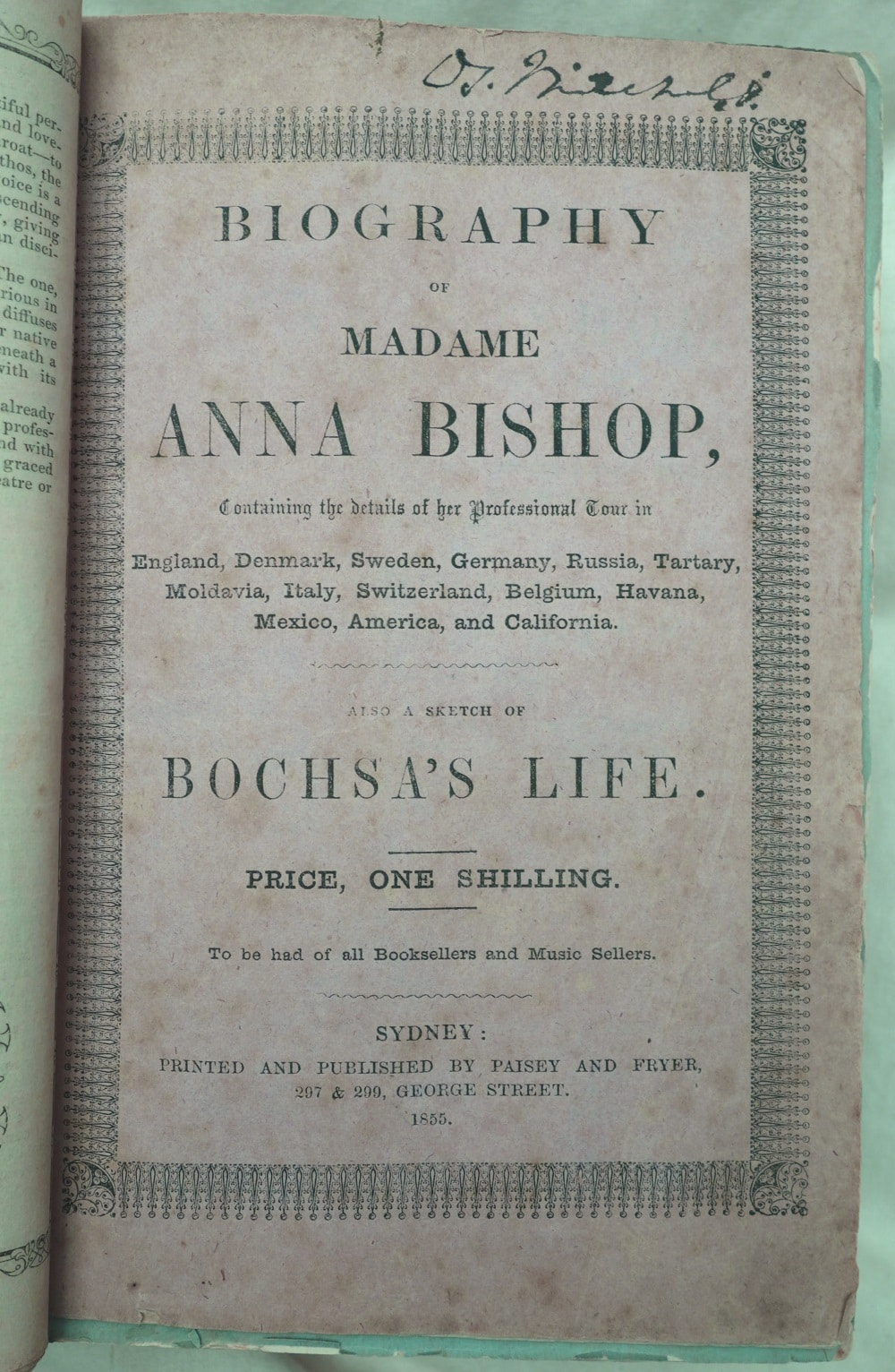 e9fad079d David Mitchell's copy of Biography of Madame Anna Bishop, State Library of  New South Wales