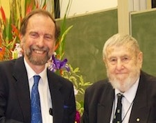 Prof. Dick Hunstead with Em. Prof. Harry Messel AC CVO