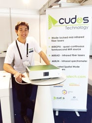 Tomonori Hu with one of the CUDOS Technology products. Photo: CUDOS/Shelley Martin.