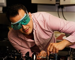 Dr Alessandro Tuniz and his team have developed a meta-material lens, a powerful tool for biological science.