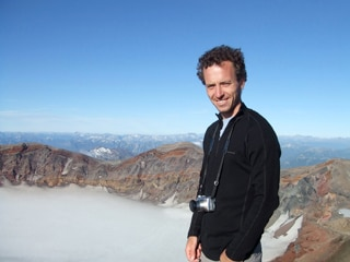 Endymion Cooper, pictured in the field in Chile, is awarded the Postgraduate Research Prize for Outstanding Academic Achievement by the Faculty of Science.