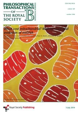 Front cover of the special edition of this journal, which asks the question 'What cost mitochondria?'