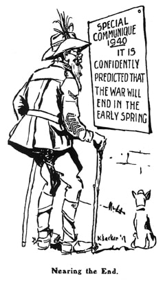 Cartoon from The Kia Ora Coo-ee on March 1918