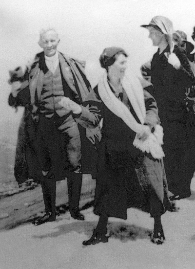 A group at the top of Mt Kosciuszko in 1922 includes T.W. Edgeworth David and his wife Cara