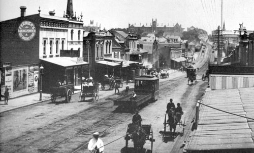 George Street South, now called Broadway, in 1900