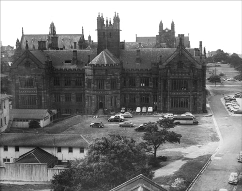 The space showing the site where the chemistry building now stands