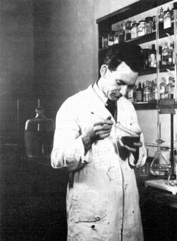 Frank Dwyer in his lab