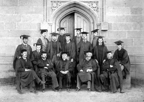 Professors and third year students in 1881