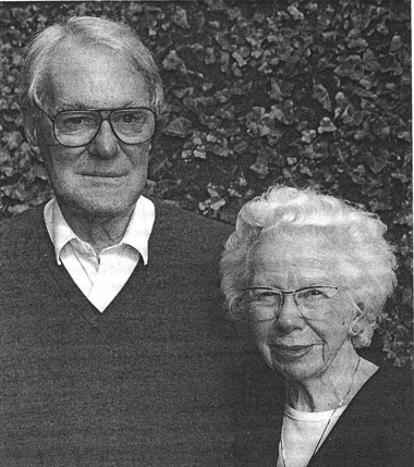 John and Rita Cornforth, photo courtesy of I Hargittai, M Hargittai