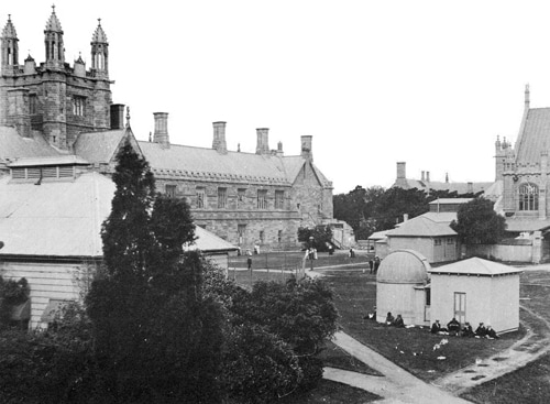 Looking across the Quadrangle towards the Clock Tower, 1912