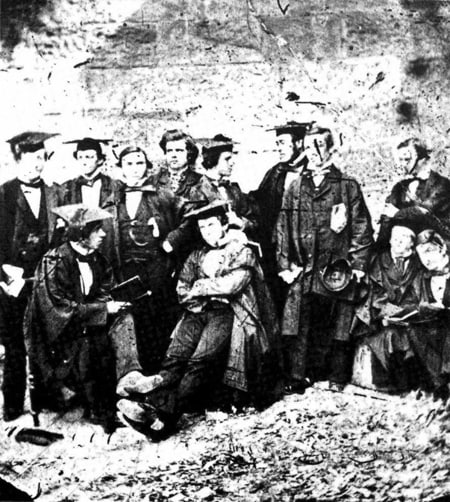A group of students, 1857