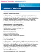 Research assistant job ad