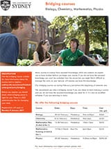 Cover of the Bridging Courses flyer
