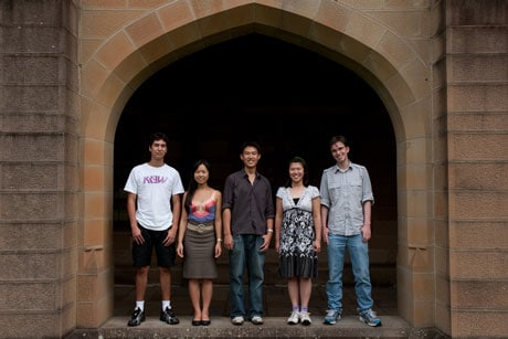 Joining the Faculty of Science (left to right): Emmanuel Marinos, Caroline Banh, Nathan Wong, Ruby Kwong and Ben Pope.