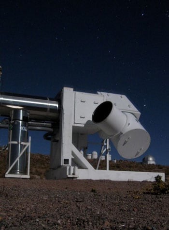 The Wisconsin H-Alpha Mapper telescope - WHAM - in its new southern hemisphere location at the Cerro Tololo Interamerican Observatory in Chile.