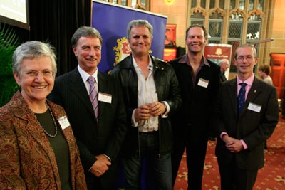 (l-r) Professor Jill Trewhella, Professor David Day, Dr Paul Willis, Dr Chris Stewart and Dr Tim Entwistle all presented at Celebrating Success.