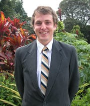 David Llewellyn, winner of the 2010 NSW Rhodes Scholarship