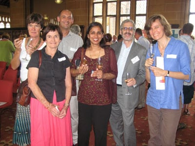 Associate Professor Manjula Sharma (centre), Director of the new Institute, with Professor Mitchell Guss (second from right), Acting Dean of Science, and guests at the launch of the Institute. Photo: Adam Selinger.