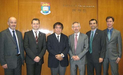 Academic Symposium with Hong Kong University. Delegation from L-R: Clive Baldock, Geraint Lewis, Sun Kwok (Dean of Science, HKU), Trevor Hambley (Dean of Science, USYD), Bryan Gaensler, Peter Tuthill.