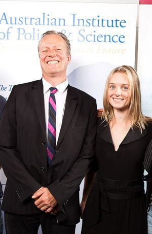 Dr Joanne Whittaker, from the School of Geosciences, has won a 2010 NSW Young Tall Poppy Science Award. Pictured with Professor Dietmar Müller, also from School of Geosciences. Photo credit: 247 Studios.