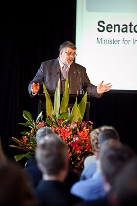 Senator Kim Carr, federal Minister for Innovation, Industry, Science and Research, officially launched CUDOS on 6 April 2011.