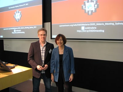 Dr Mat Todd, from the School of Chemistry, held a meeting on Open Source Drug Discovery for Malaria, which was opened by Professor Mary O'Kane, Chief Scientist and Engineer of NSW.