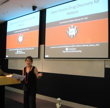 Mary Moran, Director of Policy Cures, an independent group that focuses on the creation of new pharmaceuticals for neglected diseases, spoke about the power of open source in drug discovery for such diseases.