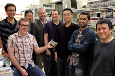 The CUDOS team led by Professor Ben Eggleton (back row, third from left) and Professor Martijn de Sterke (far left) have been recognised by having three papers selected as post deadline papers at the Nonlinear Photonics international meeting organised by the Optical Society of America.