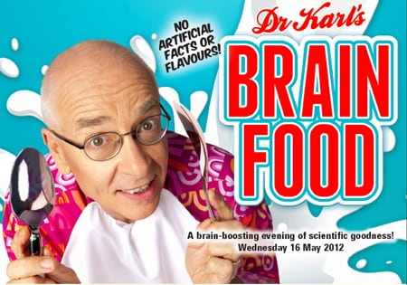 Sydney Science Forum: Dr Karl's Brain Food on 16 May 2012.