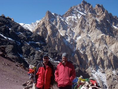 Professor Jonathan Aitchison (left), Head of the School of Geosciences, presents his Sydney Science Forum: Rewriting Himalayan History on Wednesday 17 October. This photo shows him on a fieldwork expedition in the Ladakh Himalaya.