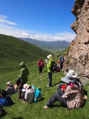 The geology field trip took students on a 12-day excursion to the Qinghai Plateau in western China in July.