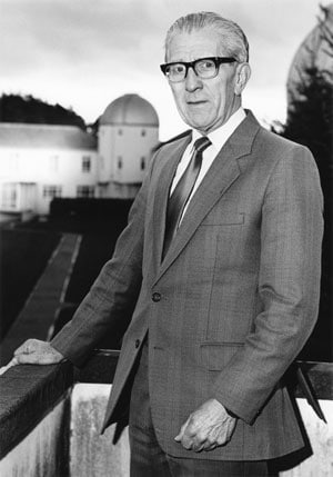 Professor Walter Stibbs in the year of his retirement (1989) from the Napier Chair of Astronomy at the University of St Andrews, in Scotland.