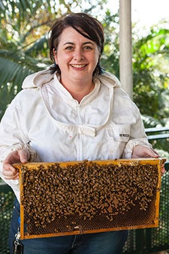 Dr Nadine Chapman, from the University of Sydney's School of Biological Sciences, has developed a genetic test that can identify killer bees.