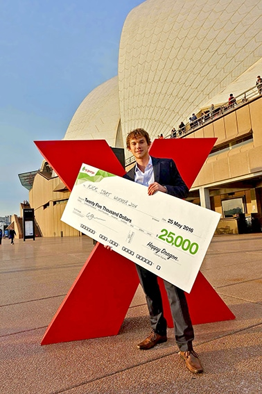 Ian Conway Lamb won one of five TEDxSydney St George Bank Kick Start grants worth $25,000 for his concept for an unmanned aerial vehicle for imaging in the agricultural industry.