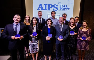This year's Young Tall Poppy Awards NSW winners were announced at the Museum of Applied Arts and Sciences on 29 September 2016.