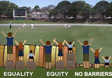 Equality versus Equity - Adapted from http://indianfunnypicture.com/equality-doesnt-mean-justice-pic