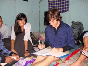 One of our students learning Indonesian.